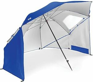 Sport-Brella Camping Soccer Baseball Game Beach Canopy Rain Umbrella Blue 8ft