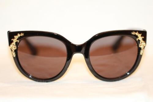 Cat Eye Brille Sonnenbrille Übergroß braun leo gold Vintage 50er Jahre 560