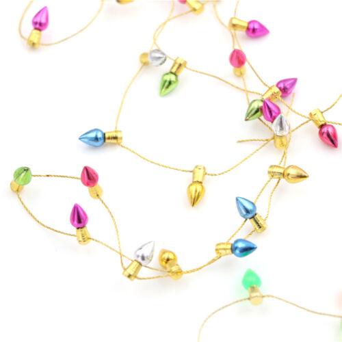 Dollhouse Miniature A String of multicolour plastic Christmas lights@/&