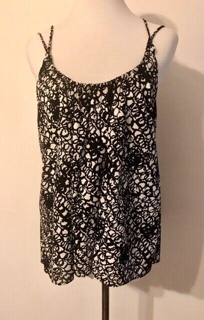 Balenciaga Black and White Silk Multi Strap Camis… - image 4