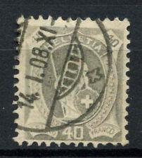 Switzerland 1905-7 SG#217, 40c Pearl Grey, P11.5x12 Used Cat £75 #A63402