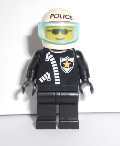 cop010 Lego City Figur Motorradpolizist mit weißen Helm