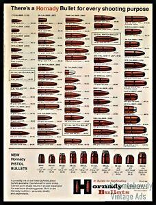 1970-HORNADY-Bullets-Ammunition-Full-line-Vintage-PRINT-AD-w-original-prices