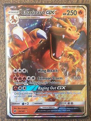 Charizard GX 20//147 Burning Shadows Ultra Rare Pokemon Card Near Mint