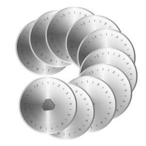 20X Ersatzklingen 45mm für Rollschneider Rundmesser Patchwork Rotary Klinge Set#