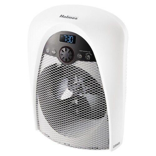 Holmes HFH436WGL-TG Heater Fan with Bathroom-safe Plug - White
