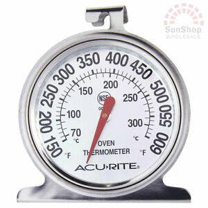 100-Genuine-ACURITE-Stainless-Steel-Oven-Dial-Thermometer-RRP-19-95