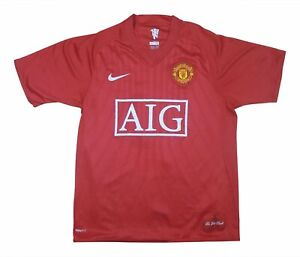Manchester United 2007-09 Authentic Home Shirt (eccellente) L soccer jersey