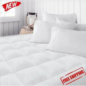 Top-Mattress-Queen-Size-Topper-Cover-Pad-Quilted-Pillow-Bed-Plush-Hypoallergenic