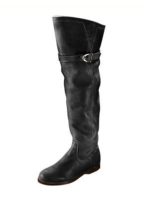 Heine Stiefel schwarz Leder Gr 35 bis 42