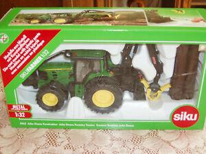 tracteur FORESTIER JOHN DEERE 7530 ,SIK4063,  échelle1/32,  SIKU
