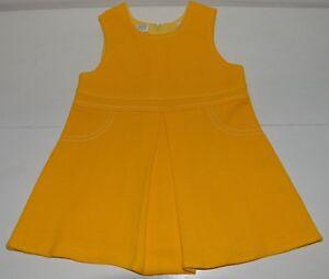 a6653f9fb0ff0 Vêtement enfant ancienne robe jaune fille 18 mois CATHYMINI vintage ...