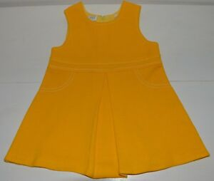 5f401b44b4606 Vêtement enfant ancienne robe jaune fille 18 mois CATHYMINI vintage ...