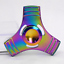 Bangers-doigt-Spinner-main-Spin-Titanium-EDC-Bearing-Focus-Stress-Jouet-Arc-en-UK miniature 5