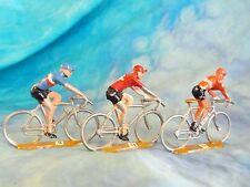 3 figurines de cyclistes en aluminium COFALU - SALZA ? Lot 7 (ref V29)