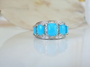 Gem-Insider-Sterling-Silver-925-Sleeping-Beauty-Turquoise-Man-Woman-Ring-Size-10
