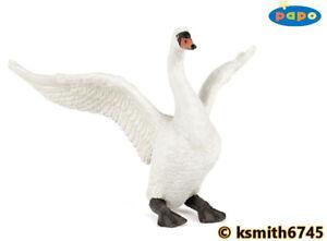 Papo D/'OCA BIANCO plastica solida giocattolo Wild ACQUA LAGHETTO Bird fattoria animale da compagnia NUOVO