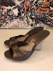 Ferragamo Salvatore brons Leren Marokko 10 schoenen size in Dames Wedge Us FnwRSxTqn