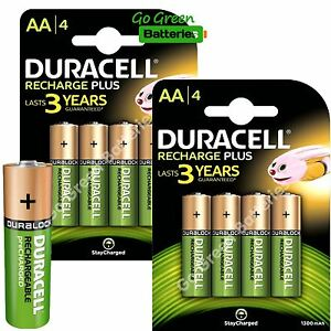 0345df88ad9 8 x Duracell AA 1300 mAh STAY CHARGE Rechargeable Batteries NiMH HR6 ...