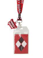 Dc Comics Batman Joker Harley Quinn Name Lanyard Id Card Pin Pass Holder Charm