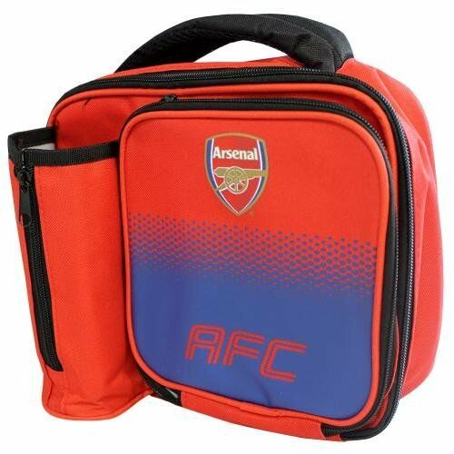 Arsenal F.C Lunch Bag With Bottle Holder Back To School Football Gift - Fade