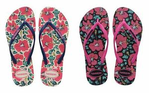 0e6924ead Image is loading Havaianas-Slim-Floral-2017-White-Blue-Black-Pink-