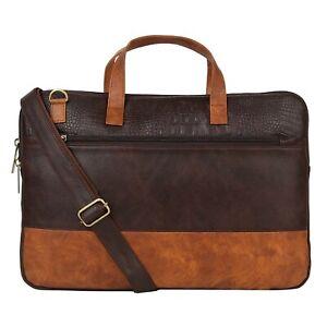 Drishya Creations Leather Shoulder Sling Laptop Messenger Bag For Unisex