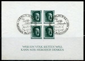 GERMANY-HITLER-SOUVENIR-SHEET-SCOTT-B103-MOSTLY-SPECIAL-CANCELS-USED-LOT-OF-5