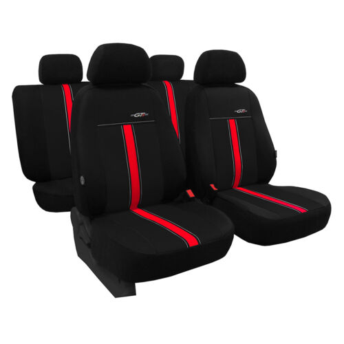 Coprisedili UNIVERSALE NERO Rosso per Nissan Qashqai anno i rivestimenti Set riferimento auto