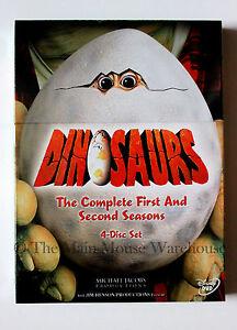 Sinclair-Family-Dinosaurs-TV-Show-Seasons-1-amp-2-on-DVD-Jim-Henson-Sitcom