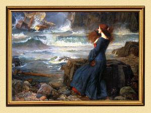 Pintor 19 Jh John William Waterhouse Miranda En La Tormenta