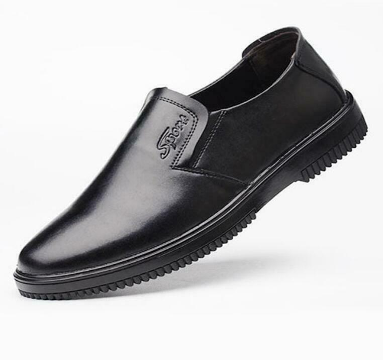 Men's Leather Chef Work shoes For Hotel kitchen Non-slip oil-proof waterproof