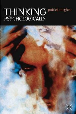 1 of 1 - Thinking Psychologically, By McGhee, Patrick,in Used but Good condition