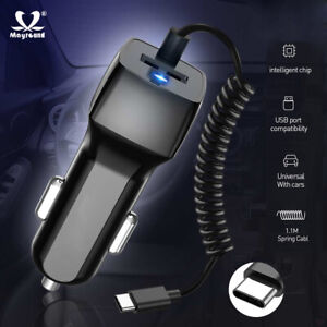 USB-Car-Cigarette-Charger-Lighter-Fast-Charge-Type-C-Cable-for-Samsung-Huawei
