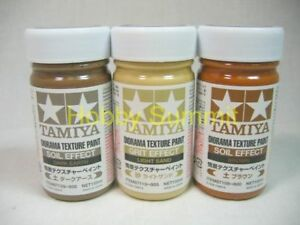 Tamiya-DIORAMA-TEXTURE-PAINT-Ground-Effect-Set-of-3-87108-87109-87110