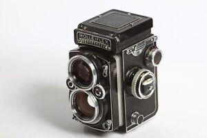 Rolleiflex-2-8-E-mit-Schneider-Kreuznach-Xenotar-2-8-80-mit-Belichtungsmesser