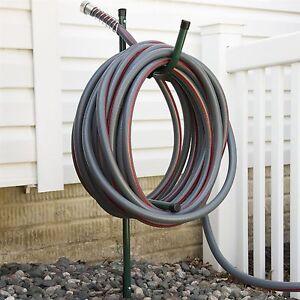 Image Is Loading Garden Hose Storage In Ground Stake Metal Bracket