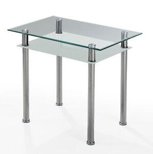 ilert k chentisch tabola w 90 x 60 cm f r die kleine k che klarglas neu ovp ebay. Black Bedroom Furniture Sets. Home Design Ideas