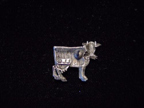 "/""JJ/"" Jonette Jewelry Silver Pewter /""vache à mâcher Grass /'Tac Pin"