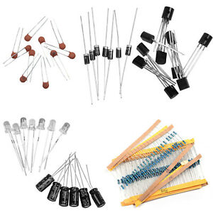 1390pcs Electronic Components Kit Basic Electronics Transistors Assortment Kits