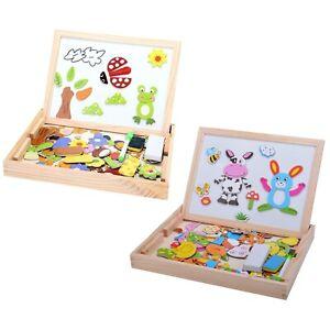 Baby-Lernspielzeug-Staffelei-Magnetic-Doodle-Kinder-aus-Holz-Zeichnung-Tafe-O2Y2