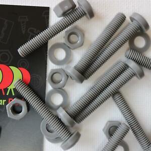 20-x-Viti-a-Testa-Arrotondata-Bulloni-e-dadi-Grigie-M6-x-40mm-Acrilica