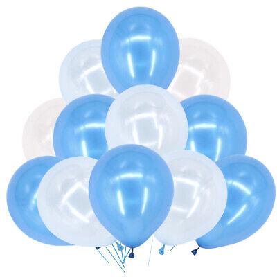 "100pcs 10/"" Blue HELIUM Pearlised Latex BALLONS BALLOONS Party Birthday Wedding"