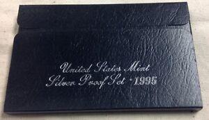 1995-US-MINT-SILVER-PROOF-SET-Complete-w-Original-Box-and-COA