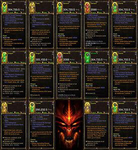 Details about Diablo 3 RoS PS4 [HARDCORE] Complete Modded Weapon Bundle  [All Classes] - BiS!
