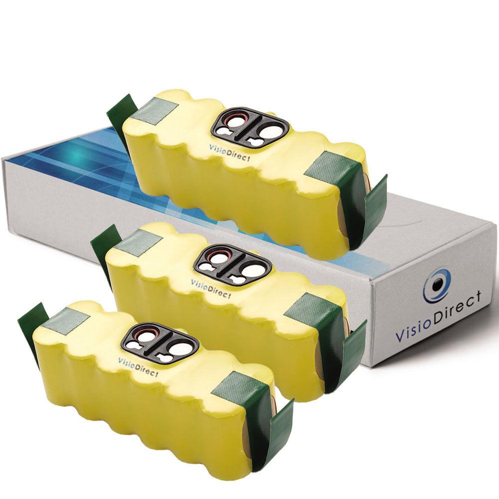 Lot de 3 batteries pour iRobot Roomba 581 14.4V 4500mAh