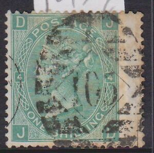 (GBL-191) 1873 GB 1/- green large white letters (OW 117) (F)