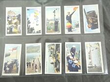 1939 Wills LIFE IN THE ROYAL NAVY Tobacco cigarette cards complete 50 card set