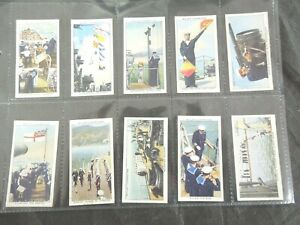 1939-Wills-LIFE-IN-THE-ROYAL-NAVY-Tobacco-cigarette-cards-complete-50-card-set