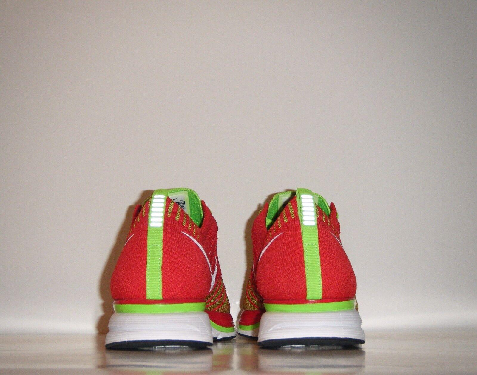 OG 2012 Nike Flyknit Flyknit Flyknit Trainer Xmas Red Green Sz 7 White Racer HTM Volt 532984-631 33b3c4